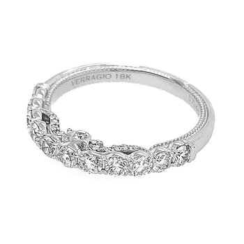 Verragio Insignia 7098W 18k White Gold Wedding Ring