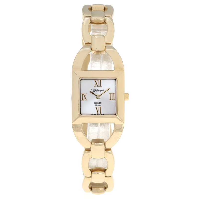 Swiss Watches Classique' Ladies Stainless Steel Gold Plated Watch - #72-14G