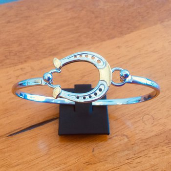 Sterling Silver and Gold Plate Horseshoe Bracelet Topper