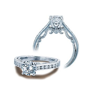 Verragio Insignia 7064R - Verragio Engagement Ring in 14k White Gold with Channel Set Diamonds