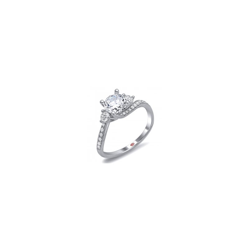 Demarco Demarco DW6098 - 18k White Gold Engagement Ring by Demarco