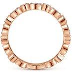 Signature Collection 14k Rose Gold Marquise and Round Shapes Diamond Wedding Band by Gabriel NY