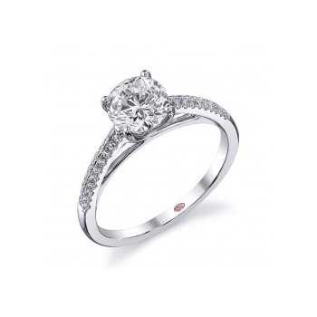 Demarco DW5613 - 18k White Gold Engagement Ring by Demarco