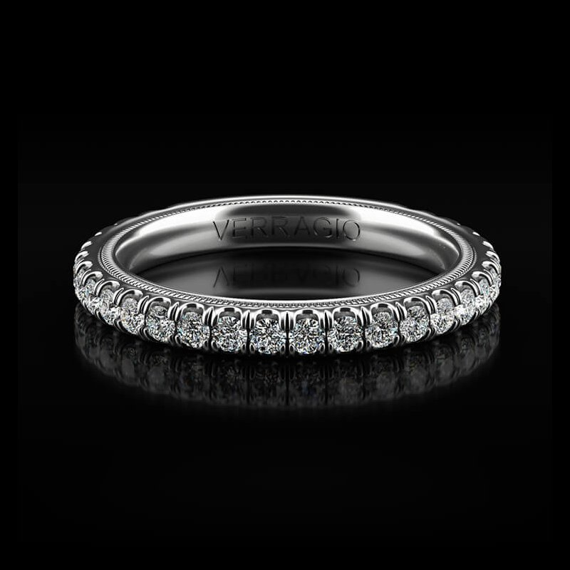 Verragio Tradition Collection Wedding Band - Style #TR180W in 14k White Gold