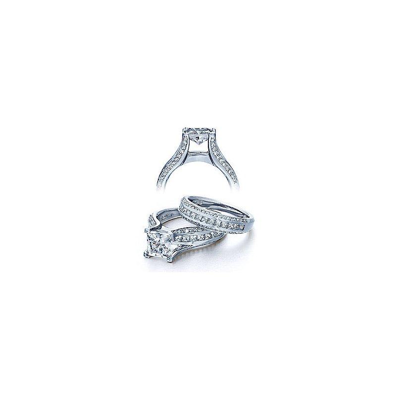 Verragio Verragio Classico 0262-Princess - Verragio Diamond Engagement Ring in 18k White Gold