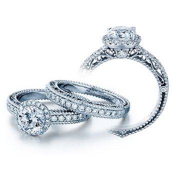 Verragio Venetian 5002R - 18k White Gold Diamond Engagement Ring by Verragio