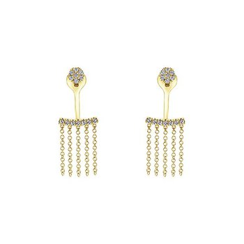 14k Yellow Gold Peek a Boo Earrings by Gabriel NY - Style #EG13110