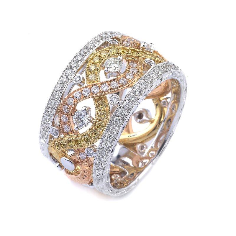 Signature Collection 18k Tri-Color Gold Diamond Band - #38592