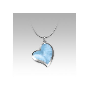 Marahlago Larimar Floating Heart Necklace