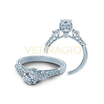 Verragio Renaissance V-917 - 14k White Gold Diamond Engagement Ring by Verragio