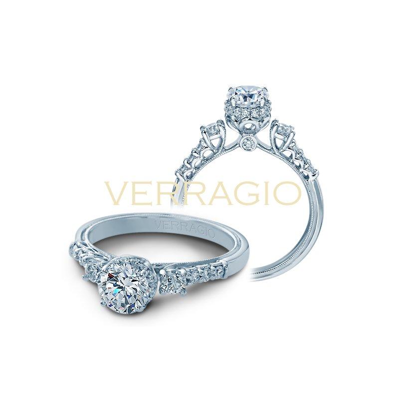 Verragio Verragio Renaissance V-917 - 14k White Gold Diamond Engagement Ring by Verragio