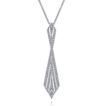 14k White Gold Diamond Pendant by Gabriel NY