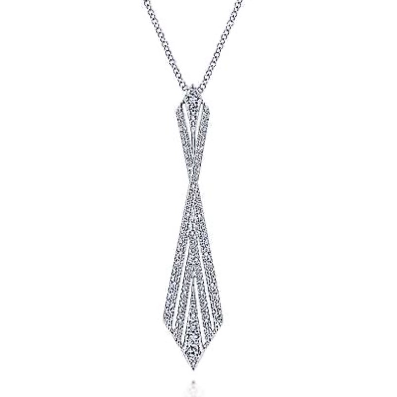 Signature Collection 14k White Gold Diamond Pendant by Gabriel NY