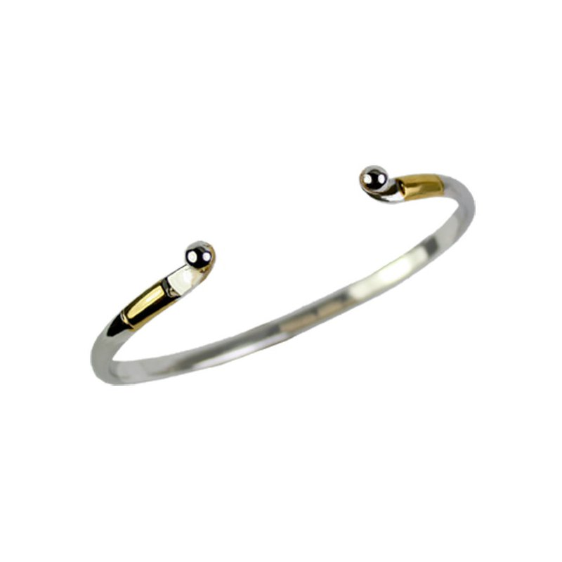 Kovel Sealife Kovel Sterling Silver and Gold Plate Bangle for Interchangeable Toppers
