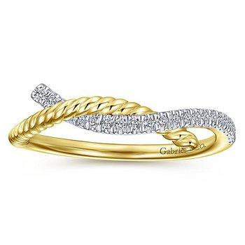 14k Yellow Gold Hampton Swirl Fashion Ring by Gabriel NY - Style #LR51443Y
