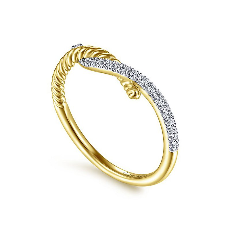 Signature Collection 14k Yellow Gold Hampton Swirl Fashion Ring by Gabriel NY - Style #LR51443Y