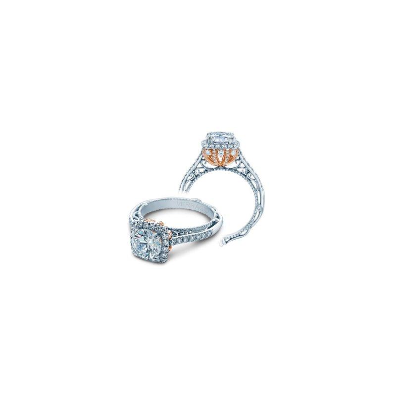 Verragio Verragio Venetian 5060CU-PLT - TT - Platinum Cushion Halo Diamond Engagement Ring by Verragio