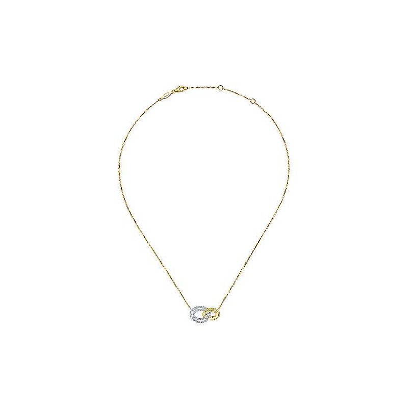 Signature Collection 14k Yellow Gold Interlocking Loop Necklace by Gabriel NY