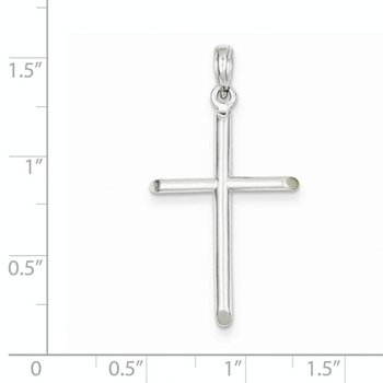 14k White Gold Plain Cross