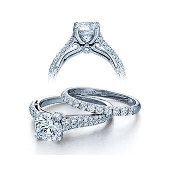 Verragio Couture 0394 - 18k White Gold Diamond Engagement Ring by Verragio