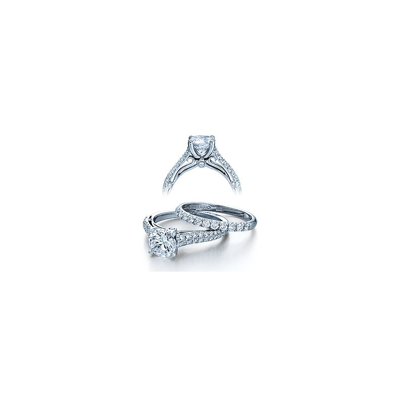 Verragio Verragio Couture 0394 - 18k White Gold Diamond Engagement Ring by Verragio