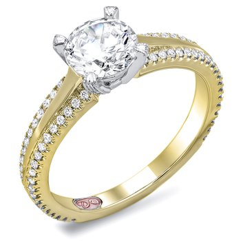Demarco DW6125 - 18k White Gold Engagement Ring by Demarco