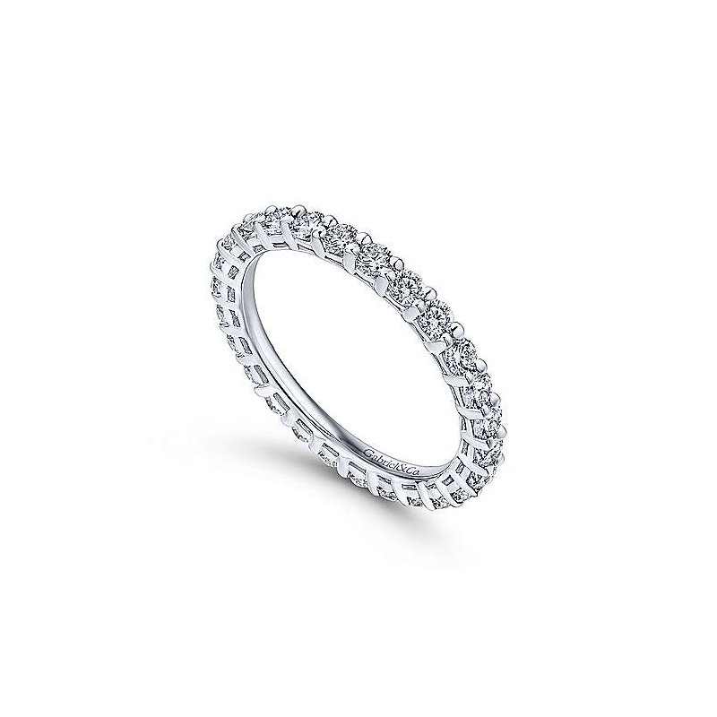 Signature Collection 14k White Gold Shared Prong Eternity Ring