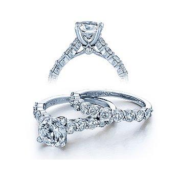 Verragio Couture 0410LR - 18k White Gold Diamond Engagement Ring by Verragio