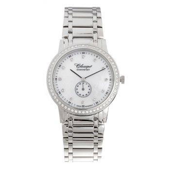 Classsique' Ladies Stainless Steel Diamond Set Watch - #28-111WD