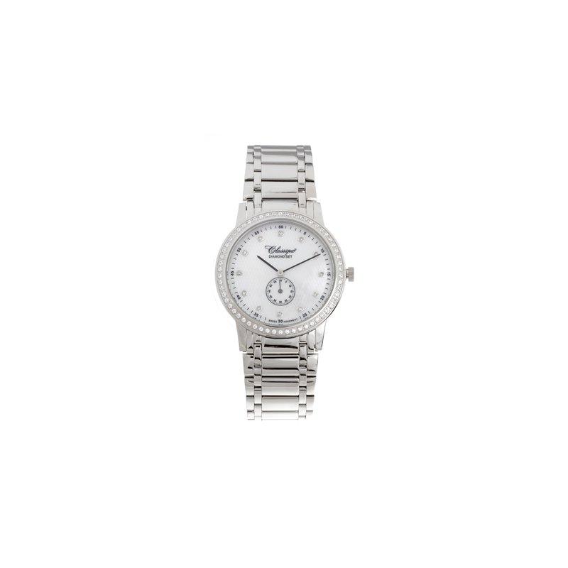 Swiss Watches Classsique' Ladies Stainless Steel Diamond Set Watch - #28-111WD
