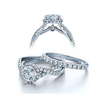 Verragio Couture-0384 - 14k White Gold Diamond Engagement Ring by Verragio