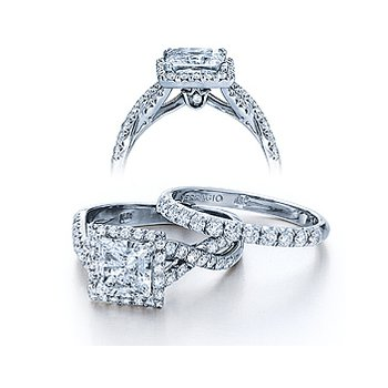 Verragio Couture 0379 - 18k White Gold Diamond Engagement Ring by Verragio