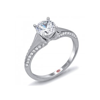 Demarco DW6106 - 18k White Gold Engagement Ring by Demarco