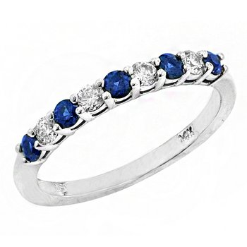 14k White Gold Sapphire and Diamond Ring #37836