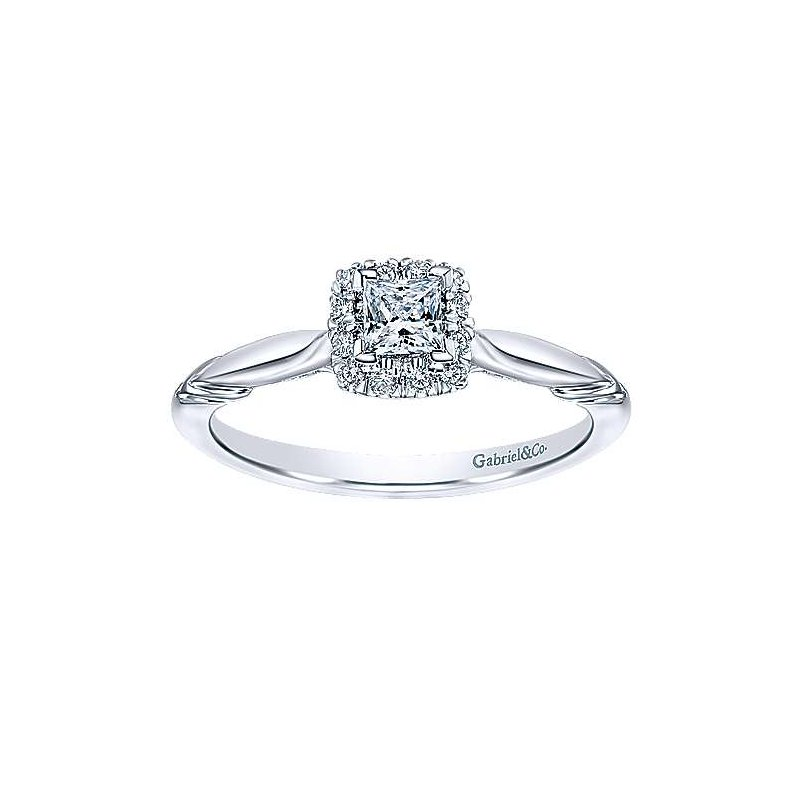 Gabriel NY Adore Collection Halo Solitaire Engagement Ring by Gabriel NY