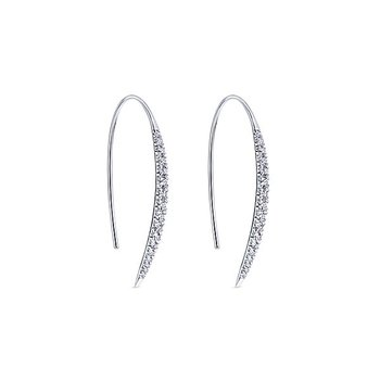 14k White Gold Kaslique Diamond Earrings by Gabriel NY