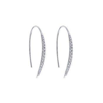 14k White Gold Kaslique Diamond Earrings by Gabriel NY