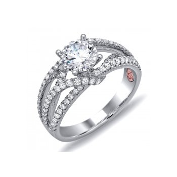 Demarco DW6108 - 18k White Gold Engagement Ring by Demarco