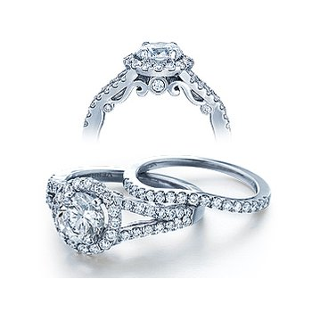 Verragio Insignia 7010R - 18k White Gold Diamond Engagement Ring by Verragio