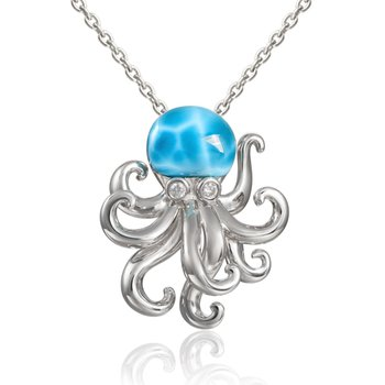 Alamea Larimar Octopus in Sterling Silver