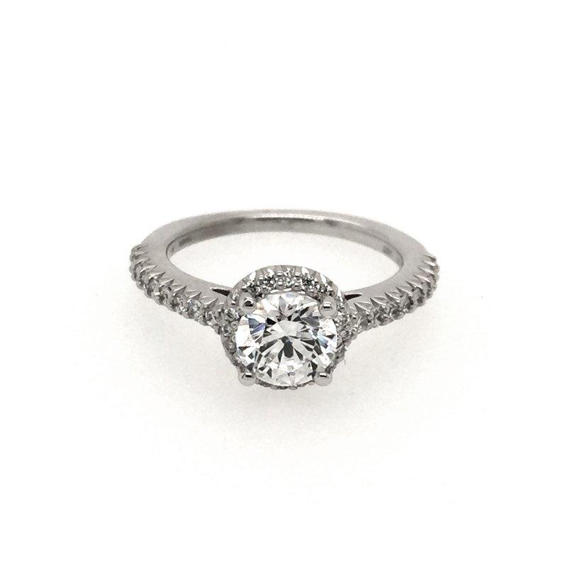 Clearance Ritani 1RZ3705 Round Halo Diamond Engagement Ring