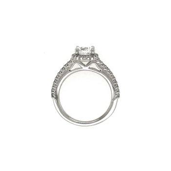 Ritani 1RZ3705 Round Halo Diamond Engagement Ring