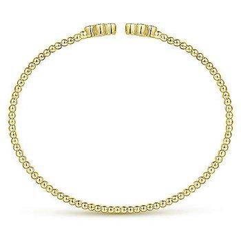 14k Yellow Gold Bujukan Diamond Flexible Bangle by Gabriel NY