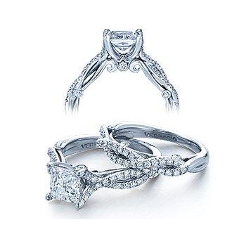 Verragio Insignia 7050 - 18k White Gold Diamond Engagement Ring by Verragio
