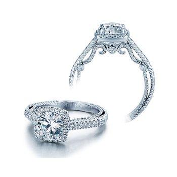 Verragio Insignia 7061 - 18k White Gold Diamond Engagement Ring by Verragio