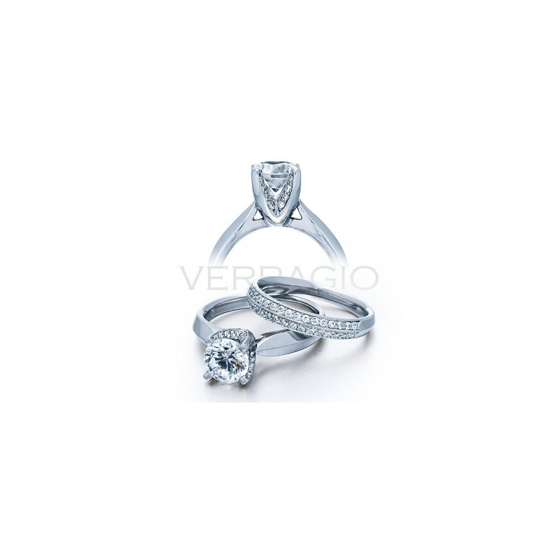 Verragio Verragio Classico 0246 - Verragio Diamond Engagement Ring with Beautiful Diamond Accents in 18k White Gold