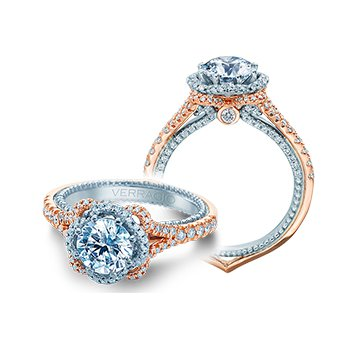 Verragio Couture 0444 2RW - 18k White and Rose Gold Diamond Engagement Ring