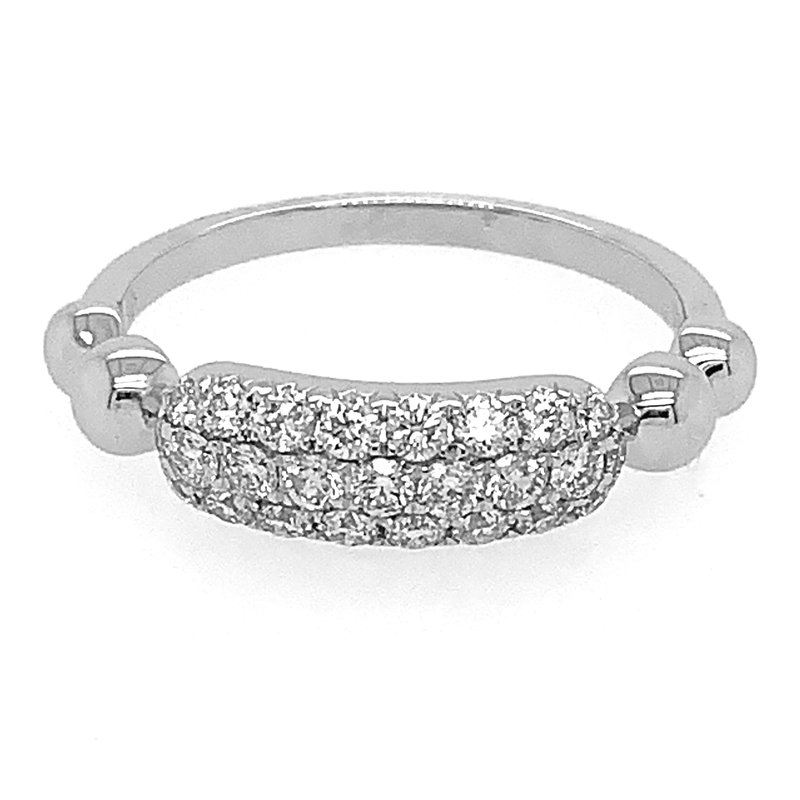 Signature Collection 14k White Gold 3-Row Diamond Pave' Ring