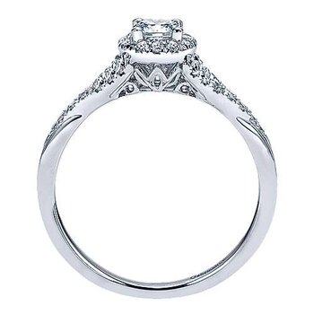 Adore Collection Sonoma 14k White Gold Round Halo Engagement Ring