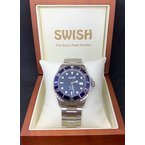 Swiss Watches SWISH Swiss Made Automatic Watch with Rotating Blue Bezel - Style #SW102